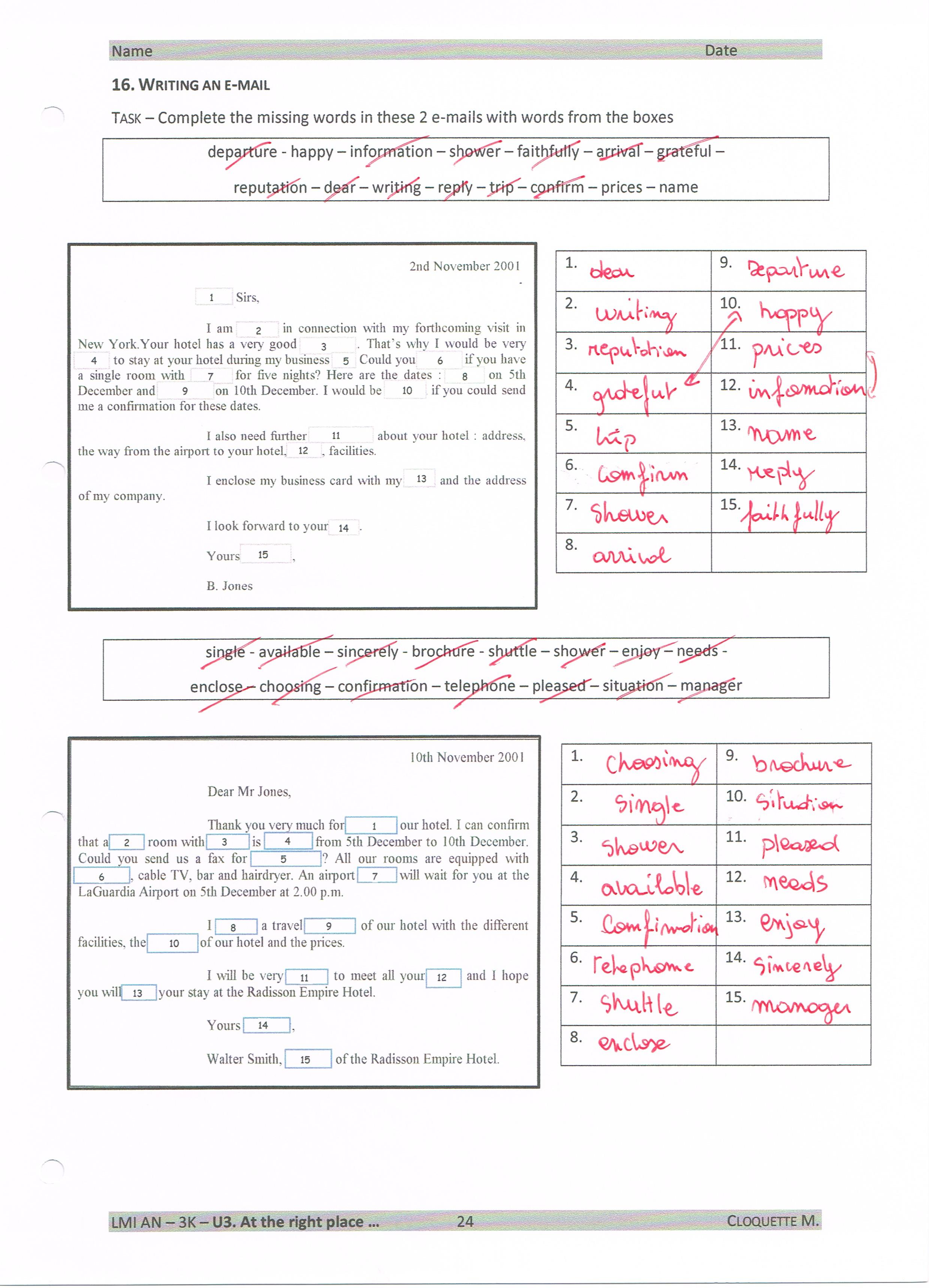 Correction P24